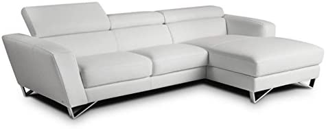 Amazon.com: JM Furniture Sparta Leather Right Mini Sectional ...
