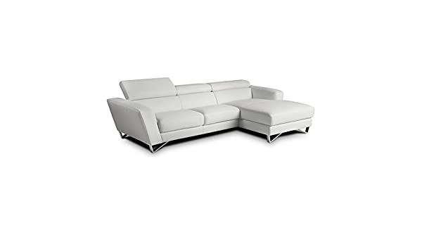 Amazon.com: JM Furniture Sparta Leather Right Mini Sectional ...