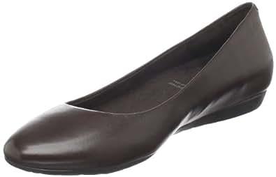 Rockport Women's Faye Ballet Flat, Dark Brown, 6 M US