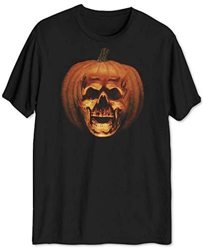 Halloween Michael Myers Spooky Pumpkin Resurrection H20 Men's T-Shirt Tee (Large) Black]()