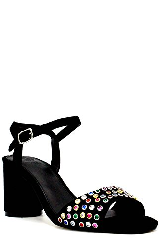 Guess FLLOR1 SUE03 High Heeled Sandals Women Black bsxcA