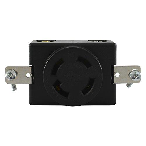 (Conntek 80619 Locking Flush Mount Receptacle, 30-Amp 125/250-Volt, NEMA 14-30R)
