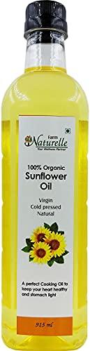 Farm Naturelle Organic Virgin Cold Pressed Sunflower Oil, 915ml