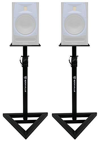 (2) Rockville Adjustable Studio Monitor Speaker Stands For Presonus R80 Monitors