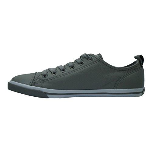 Burnetie Heren Grijs Leren Ox Vintage Sneaker