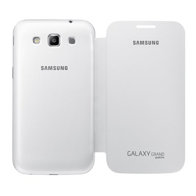 2491a7660e8 Image Unavailable. Image not available for. Colour: Samsung  (EF-FI855BWEGIN) Flip Cover for Samsung Galaxy Win I8552/Grand Quattro