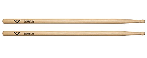 Vater Power 5A Wood Tip Hickory Drum Sticks, Pair