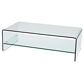 Soliving Neal Table Basse Verre Transparent 80 X 80 X 35