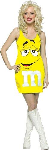 (M&M Tank Dress Adult Costume Yellow -)