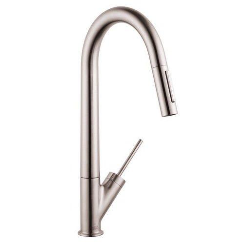 Hansgrohe 10821801 Starck High Arc Kitchen Faucet, Steel Optik