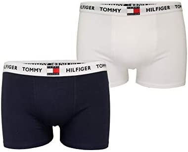 Tommy Hilfiger Jungen 2 Pack Original Baumwolle Boxer Rüssel, Marine Blazer/Weiß
