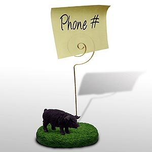 Pig Note Holder (Black)
