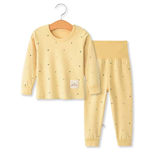 YANWANG 100% Organic Cotton Baby Boys Girls Pajamas Set Long Sleeve Sleepwear(3M-5T)(Tag55/12-24M,Pattern 10)