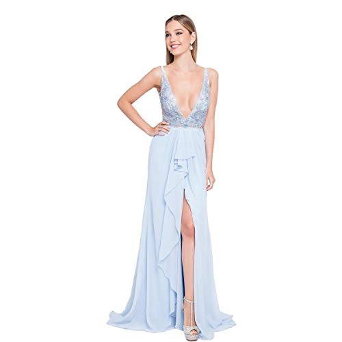 Terani Couture Prom Beaded Evening Dress Blue 12