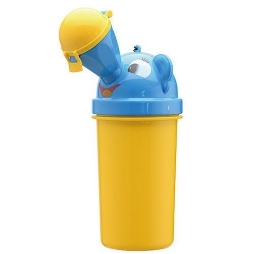 Portable Training (Portable Baby Child Potty Urinal Boy Toddler Potty Training for Camping Car Travel Girl Travel Potty Urinal Training Toilet (Yellow for boy))
