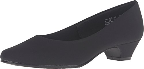 Soft Style by Hush Puppies Women's Angel II Dress Pump, Black Peau De Soire, 7 W US