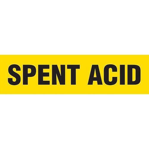 GHS Safety PM1285RB, PM1284 Plastic Sheet''Spent Acid'', Pack of 50 pcs