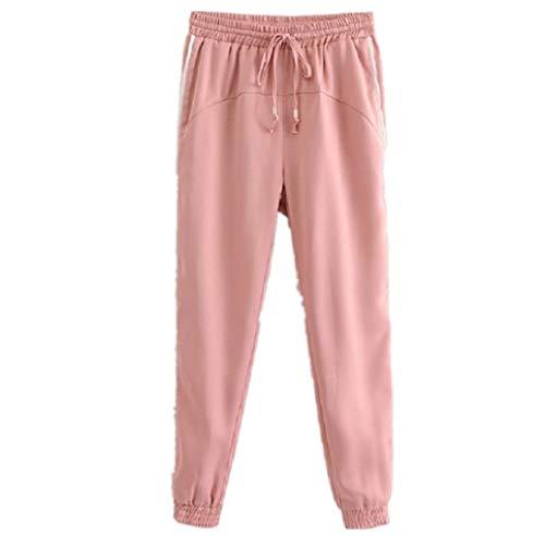 FuweiEncore Pantaloni Sportivi Donna Rosa (Colore : Rosa, Dimensione : S) Rosa