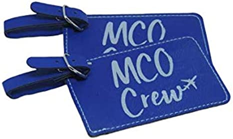 Set of Two Blue Set of Two with MCO Crew Base Orlando Crew Base Luggage Tag