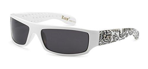 5Zero1 Locs Mens Fashion Hardcore Gangster Cool Shades Bandana Print Two Tone Sunglasses