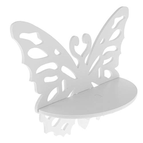 ZKKZ Floating Shelf,Butterfly Shaped Wall Mounted Rack Bracket Ledge Organizer Wall Shelf for Small Items