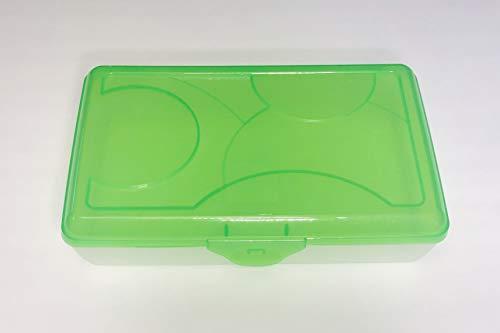 - Sterilite Large Plastic Pencil Storage Box Case School Translucent (Green)