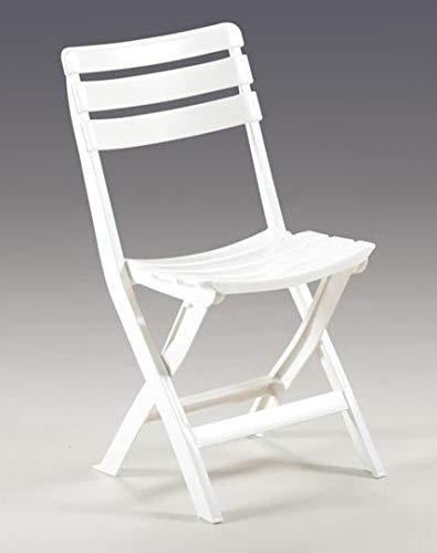 Sedie Pieghevoli In Resina.Sedie In Resina Pieghevoli Bianca Cm 49x42x78h Pz 4 Amazon It