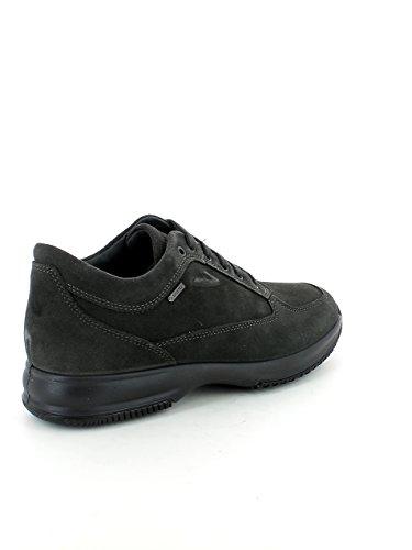 Sneaker interactive in camoscio grigio scuro e gor N. 43 Perfecto flzOLp70