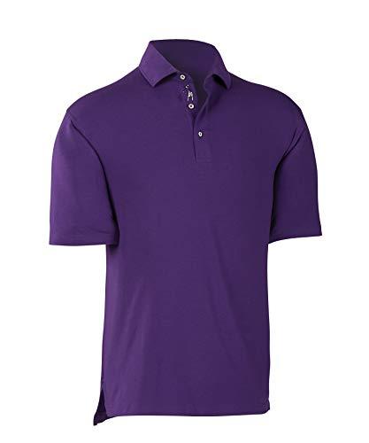 Stretch Cotton Polo Golf - Bobby Jones Golf Polo Shirt - Short Sleeve Solid Polo Shirt for Men - Stretch Liquid Cotton Shirt