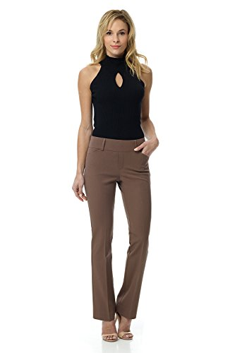 Rekucci Womens Smart Chic Bootcut Pull On Pant in Ultimate 360 Degree Stretch Cotton