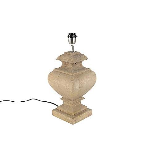 QAZQA rústico Lámpara de mesa rústica sin pantalla madera ...