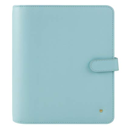 Classic Brushed Planner Love Simulated Leather Snap Binder - Blue