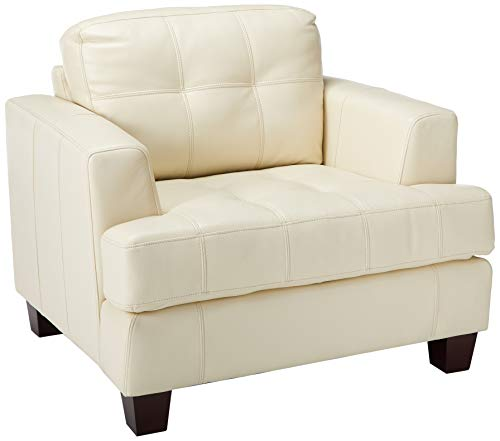 Samuel Cushion Back Chair Cream