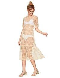 Floerns Vestido de Malla Transparente para Mujer, Sexy, para Noche, con Niveles.