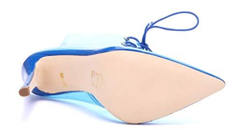 Boots Schuhe Klassische Heels Blau Damen Stiefel Blockabsatz cm High Abbecourt Stiefeletten Schuhtempel24 Ziersteine 10 X6qxRx