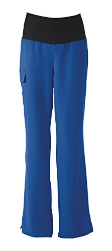 Medline Healthcare 5560RYLM Ocean AVE. Women's Yoga Scrub Pant, Medium, Royal Blue