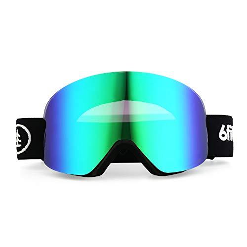 6fiftyfive [2020 Design] Australia - Ski Goggles - Premium Snowboard Goggles Men and Women - Multi-Layer Anti Fog Lens, Full REVO Coating, Magnetic Quick Change Lens, Dynamic Contrast, UV400, OTG