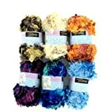Feather yarn (assorted colors)-Package Quantity,24