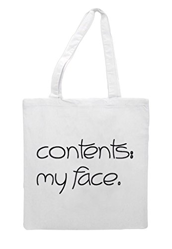 Up White Contents Make Bag Tote Face Shopper Statement My PPwp8qt