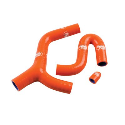 SamcoSport Radiator Hose Kit with Thermostat Bypass Orange - Fits: KTM 400 XC-W 2009-2010 by SamcoSport