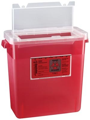 Bemis Healthcare 303 030 Translucent Red Sharps Container, 3 gal (Pack of 12)