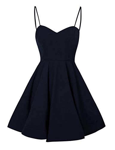 Blue Spaghetti Women's Homecoming Bess Party Cocktail Navy Prom Straps Bridal Dress Short FTxpx5qwPE