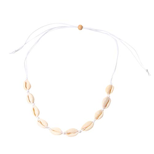 Gbell  Statement Necklace Jewelry for Women,Cowrie Shell Choker Necklace Shell Necklace Seashell Adjustable Pendant Strand Bracelets Summer Hawaiian Jewelry ()