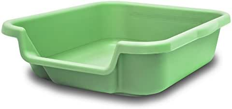 Kitty Go Here Senior Cat Litter Box for Cats That Can't Cope with a Traditional Litter Box. Apple Green Color. See phot of Outside Dimensions. USA Made
