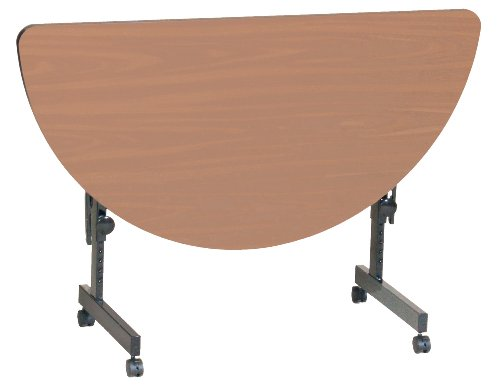 Folding Round Table Top Half (Correll FT2448HR-01 Deluxe Flip Top Table, 24