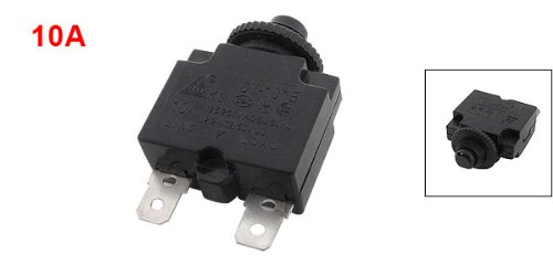 uxcell® Black Air Compressor Circuit Breaker Overload Protector 10A DC 12/24/32/50V
