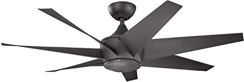 Kichler 310112DBK 54-Inch Lehr II Fan, Distressed Black (Ceiling Antique Carlo Fan White Monte)