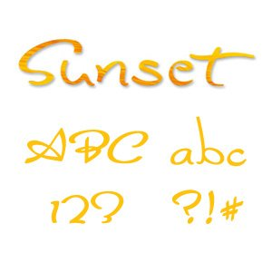 Sizzix 654882 Sizzlits Alphabet Set, 35 Dies, Sunset by Stu Kilgour