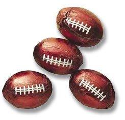 Chocolate Foil Footballs - 10 pounds by Escape Concepts (Chocolate Foil Footballs)