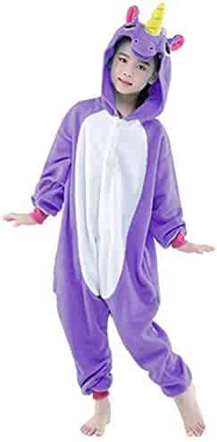 9d70ed914 Halloween Cosplay Costume Unicorn Onesie Pajamas Onepiece Animal Outfit  Homewear